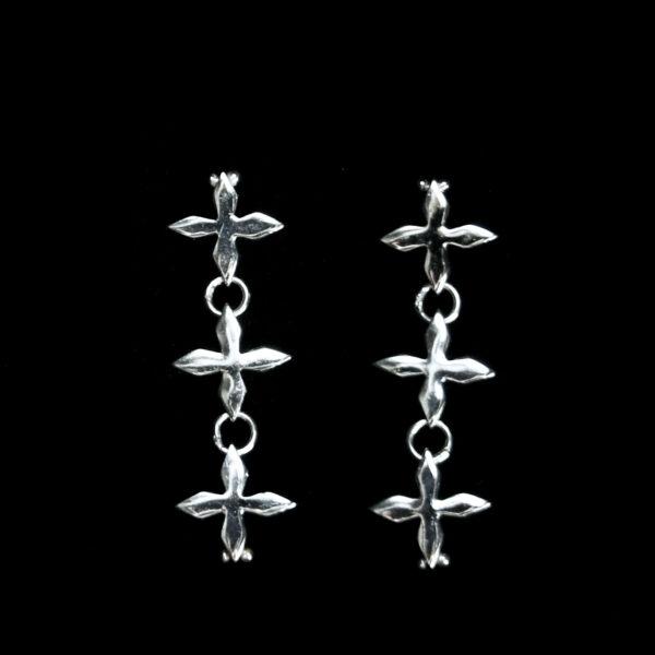 Triple Quatrefoil Drop Earrings
