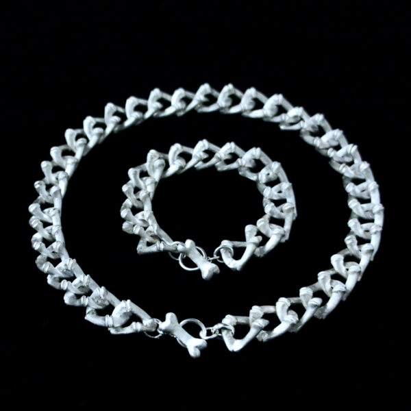 Mini Bamboo Curb Necklace & Bracelet
